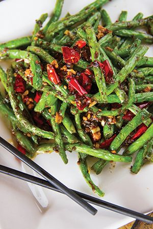 Dry Stir Fried Green Beans at Mandarin Taste.