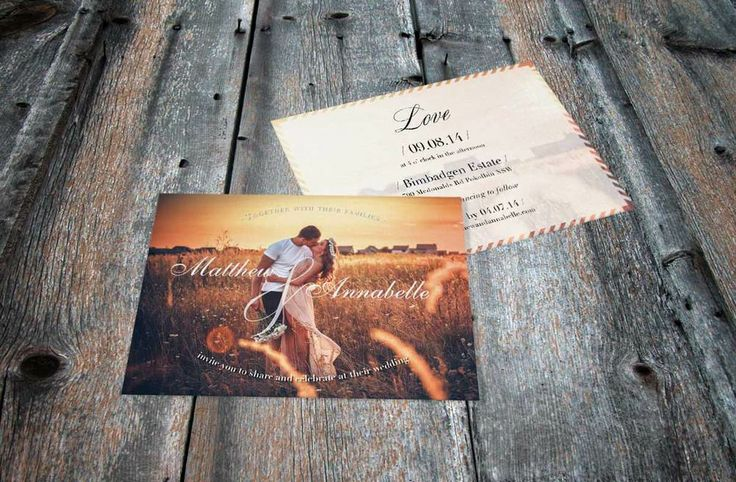Wedding Invitations for the Bohemian Brides