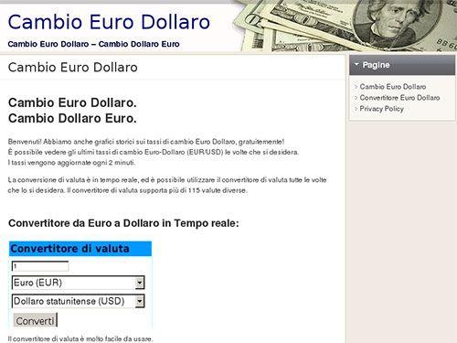 Cambio euro dollaro aggiornato in tempo reale su forex