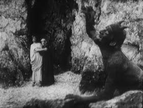 """L'Inferno (1911) Filme mudo italiano baseado na obra """"A Divina Comédia"""" de Dante Alighieri, com grandes cenários e efeitos especiais incríveis para a época, inspirado nas famosas ilustrações de Gustave Doré. As cenas são realmente muito bem feitas, retratando anjos, demônios açoitando os condenados e até Satan devorando pecadores."""