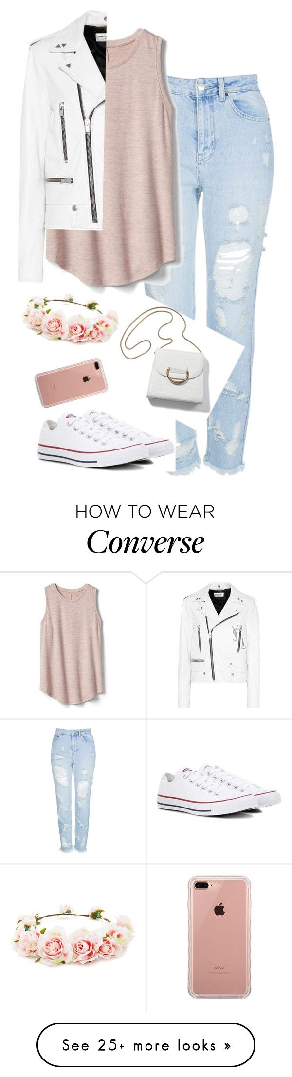 """Без названия #1098"" by m-gorodetskaya on Polyvore featuring Topshop, Gap, Converse, Belkin, Forever 21 and Yves Saint Laurent"
