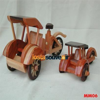 souvenir miniatur becak