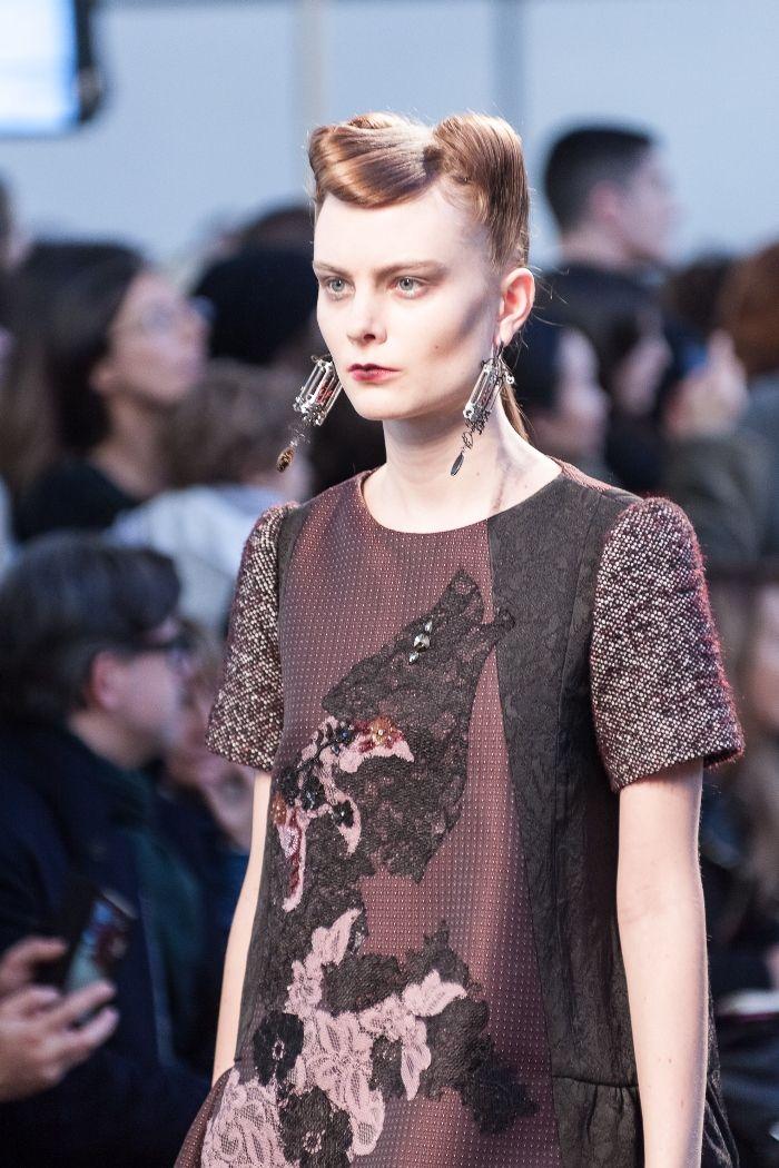 Antonio Marras Fall Winter 2014 2015 milan fashion week check the applique detail