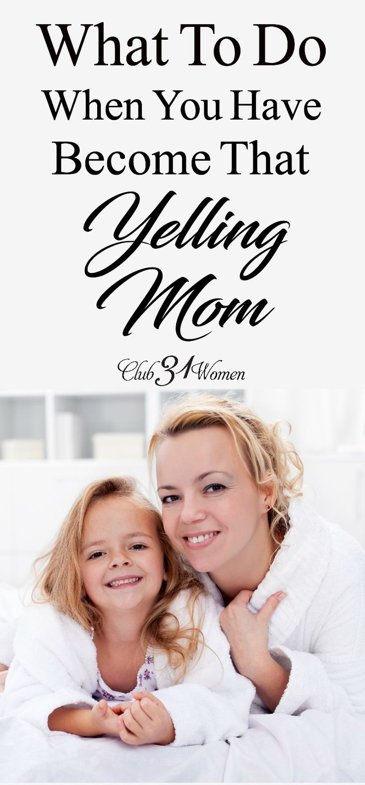 Are you a yelling mom? And it's not how you ever wanted it to be? Here's how I was able to overcome my bad habit of yelling at my kids.... via @Club31Women