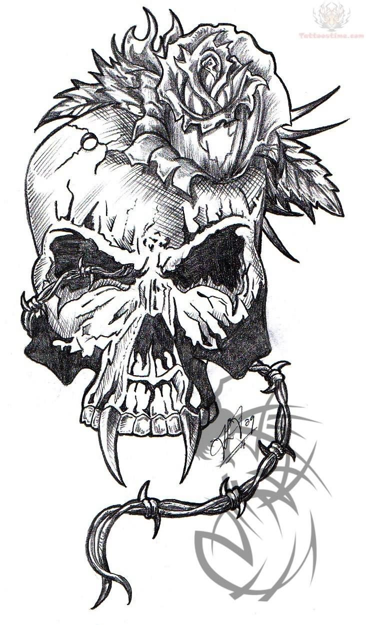 80 crazy and amazing tattoo designs for men and women desiznworld - Flaming Army Skull Tattoo Design Photo Real Photo Pictures Images And Sketches Ideas Tattoo Collection