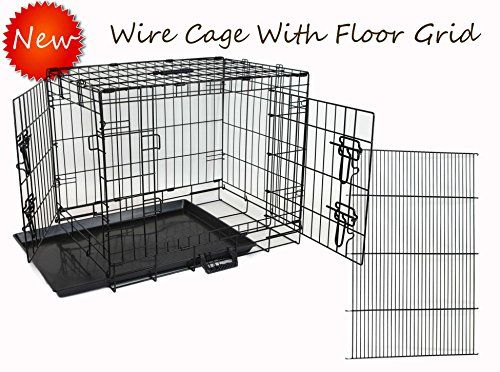 Homey Pet-Economic 42 Wire Folding Dog Cage with Pull Out Tray and Floor Grid (W/ Grid  42)