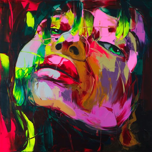Francoise Nielly, oil painting with knife