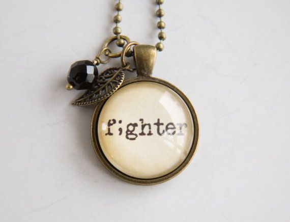 Fighter Necklace  Semicolon Jewelry  Inspirational by OxfordBright