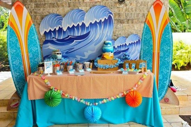 Decoração para festa com tema surf - Foto: Carol Rivera