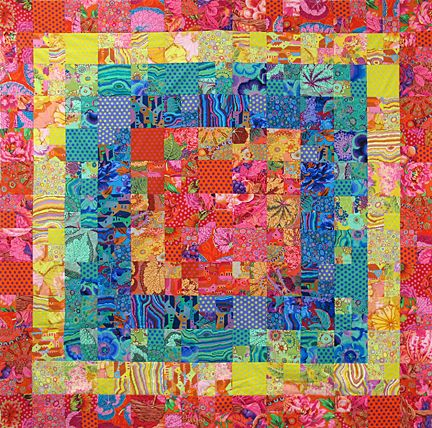 Bloom quilt by Valori Wells.  Kaffe Fassett fabrics.
