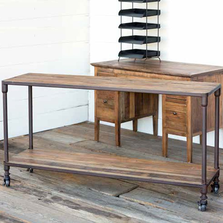 Park Hill Collection Reclaimed Wood Console - NB402