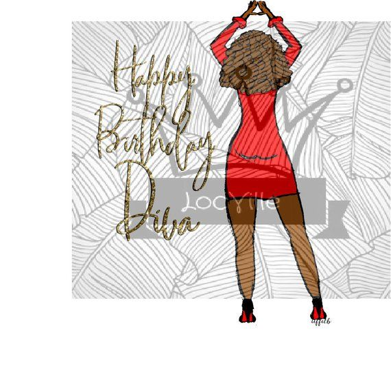 African American Art Delta Woman Happy Birthday Diva Birthday Card Greeting Cards Stationary Planner Supplies Instant Download Clip Art Art Collectibles Diplomatkhabar Com
