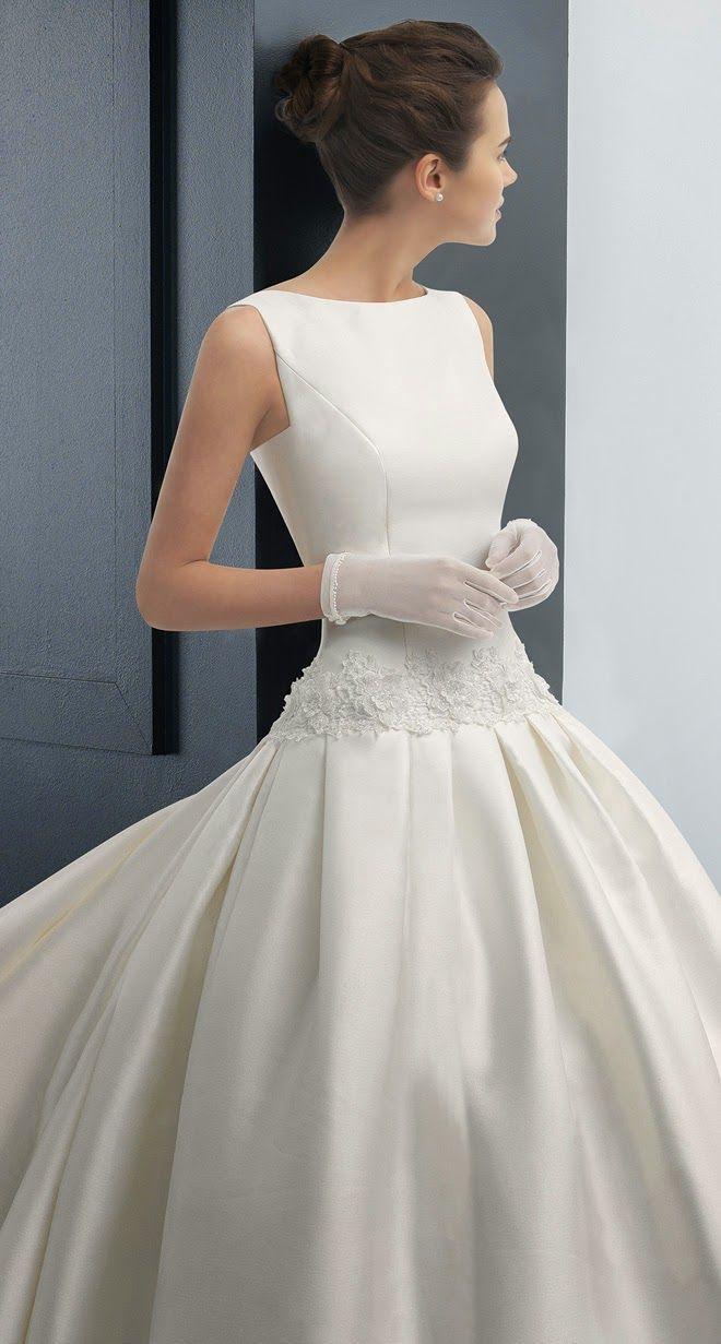 audrey hepburn wedding dress wedding dress Two by Rosa Clara Bridal Collection Classy Wedding DressSimple