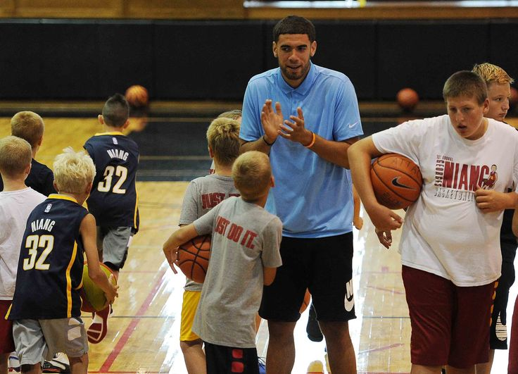 Former Iowa State basketball player Georges Niang encourages the campers Tuesday in Ames. Photo by Nirmalendu Majumdar/Ames Tribune http://www.amestrib.com/sports/20170718/men8217s-basketball-niang-8220optimistic8221-about-future-amid-uncertainty
