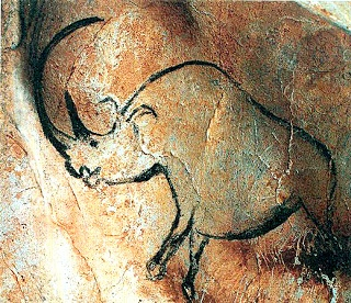 #Chauvet -- Painting of a Rhinocerus -- 30,000 BCE -- Chauvet Cave -- Ardeche Valley -- France