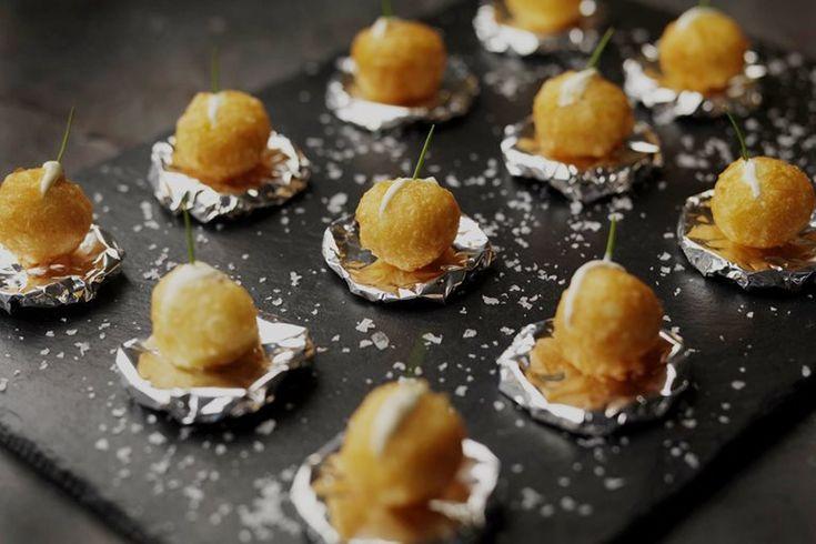 Dauphine potatoes with crème fraîche