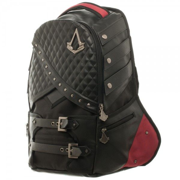 "Assassins Creed Laptop Backpack Deluxe Bookbag 19"" Secret Compartment NEW Movie!"