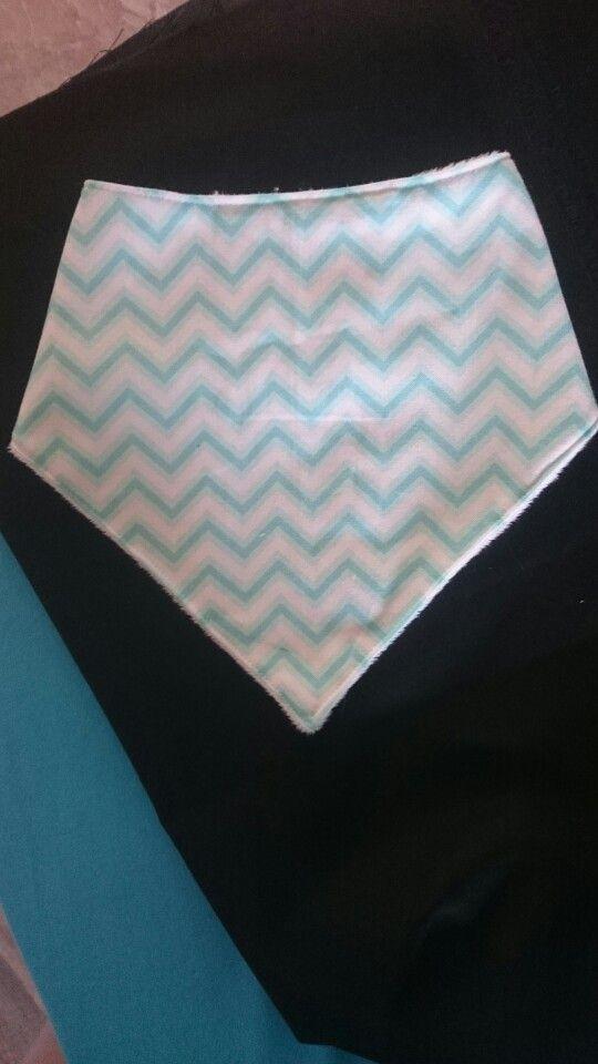 Light blue Chevron bandana bib