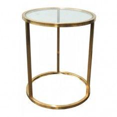 Bogart Brass Side Table   Ocassional Tables   Tables
