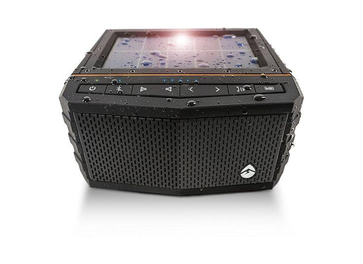 Sale! EcoXGear SolJam Bluetooth Speaker, Solar, Waterproof 20W Large Passive Subwoofer