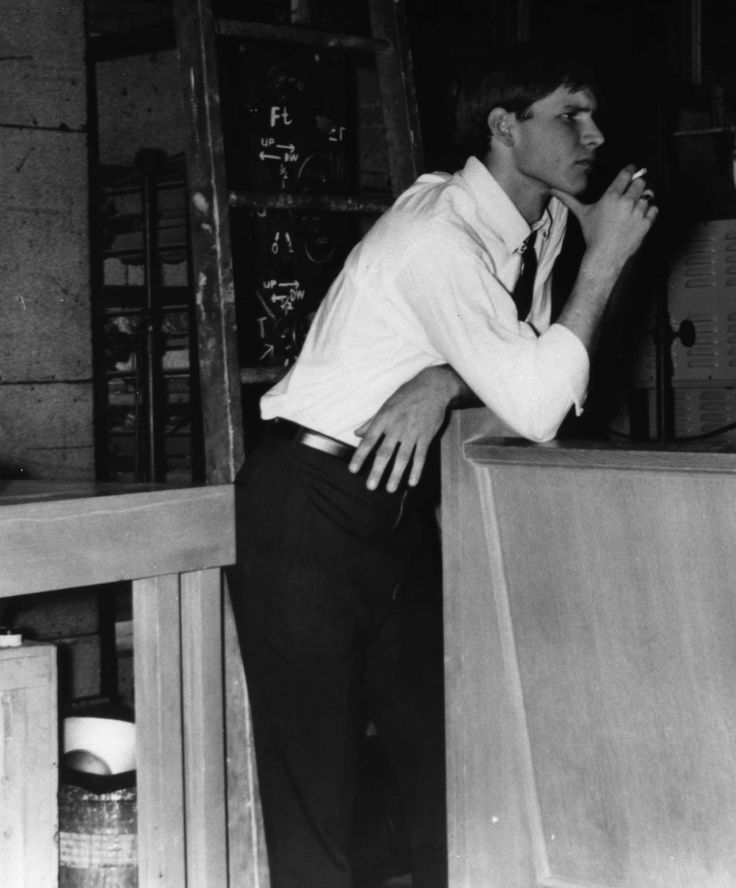 Young and handsome, Harrison Ford.
