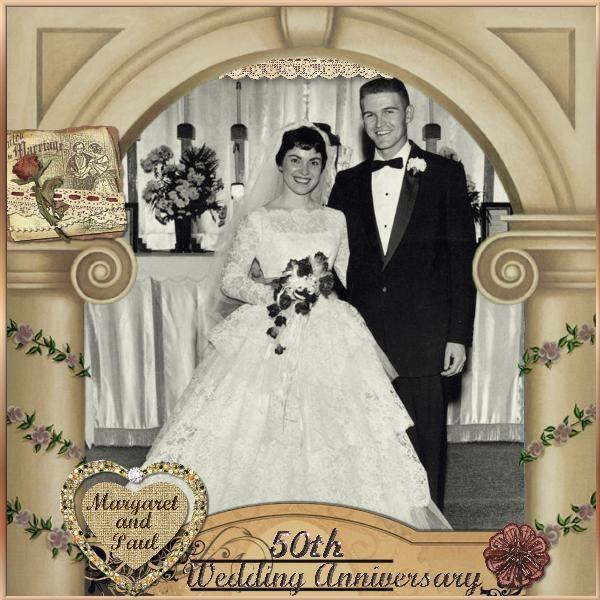 50th wedding anniversary digital scrapbooking at scrapbook flair