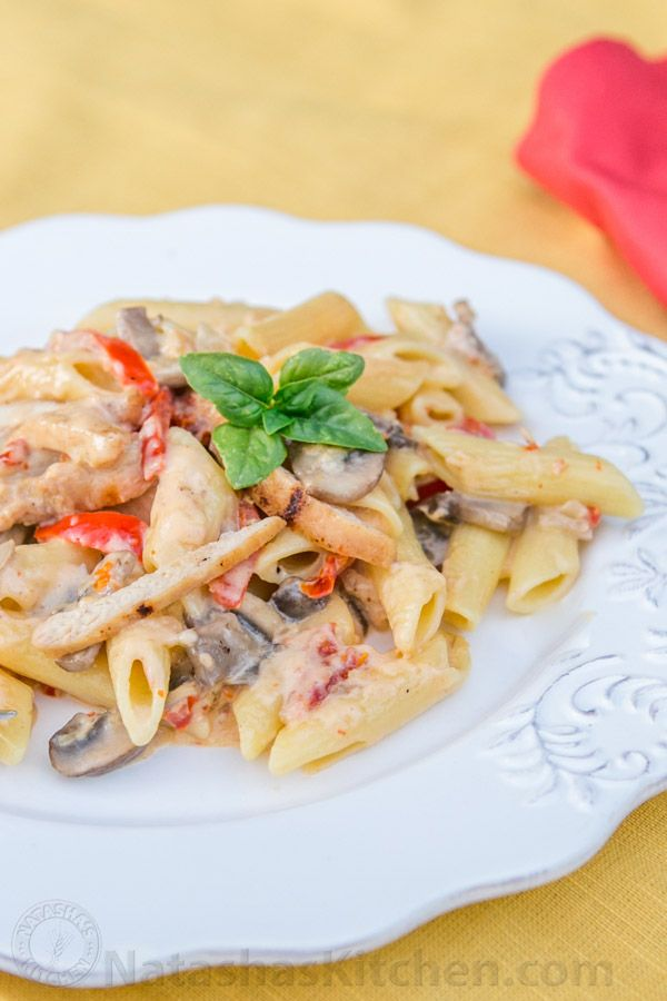 There's a secret ingredient in this Chicken Alfredo. Seconds? I think so!! One of my readers (Yana) wrote in with this recipe. Its the same Yana who shared her famous recipe for bird's milk jello. She got this pasta recipe from her friend Viva. See...
