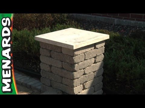 Concrete Block Columns How To Build Menards Youtube