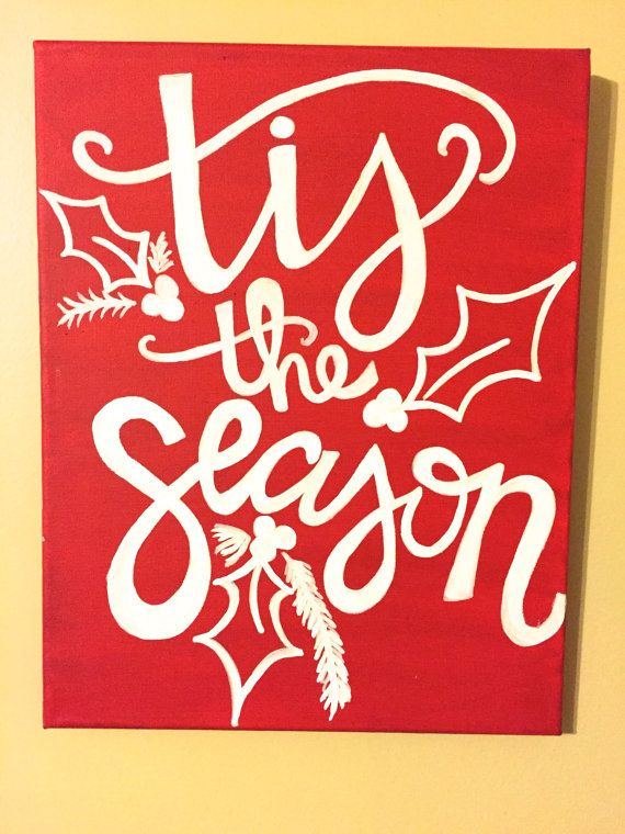 Tis the Season! Find this and other Christmas canvas decorations in the WordsOfBliss shop on Etsy!