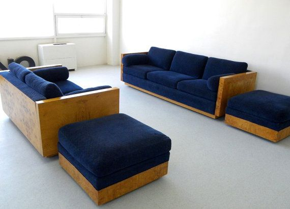 Vintage Milo Baughman Minimalist / Modernist furniture set