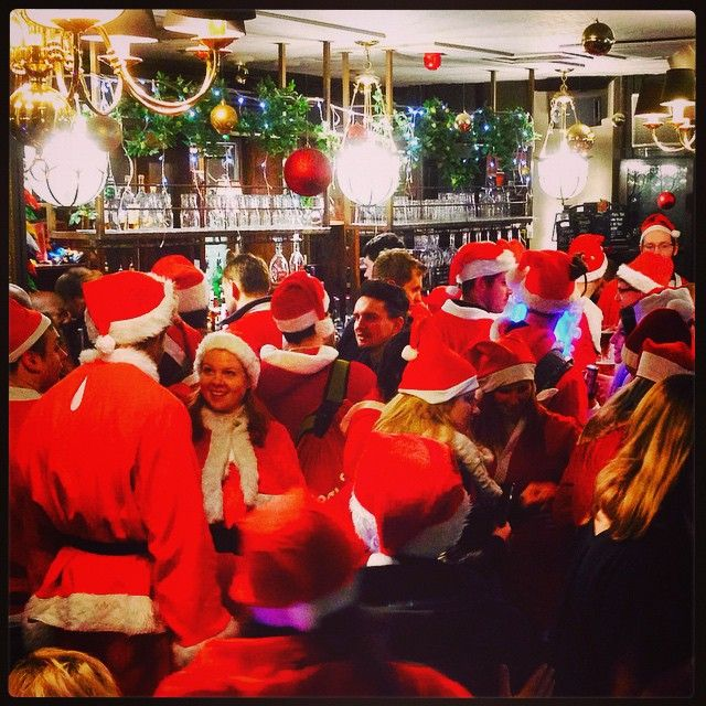 #Santacon hits #London #pub! It's a #Kooky London indeed - App http://bit.ly/11XgicP #ig_London #igLondon #London_only #UK #England #English #British #iPhone #quirky #odd #photoftheday #photography #picoftheday #igerslondon #lovelondon #timeoutlondon #instalondon #londonslovinit #mylondon #winterwonderland #pub #Padgram