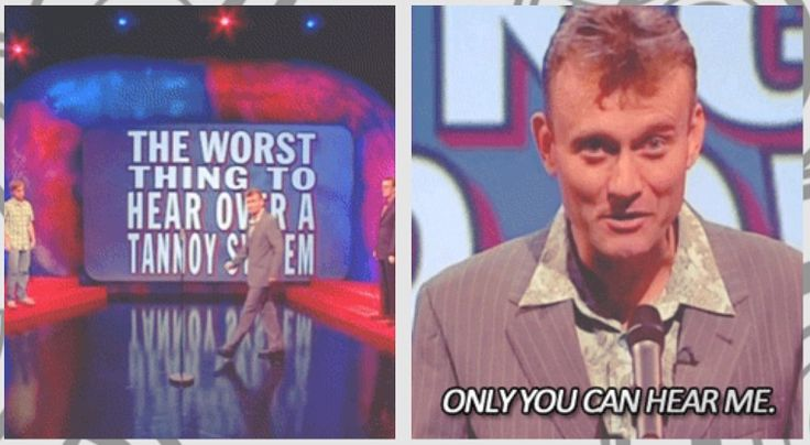 The worst thing to hear over a tannoy system | Hugh Dennis | Mock the Week