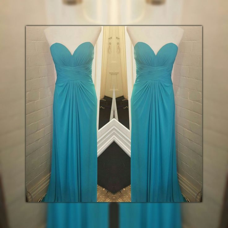 My Fair Lady dress in aqua - a pop of colour to any themed wedding.