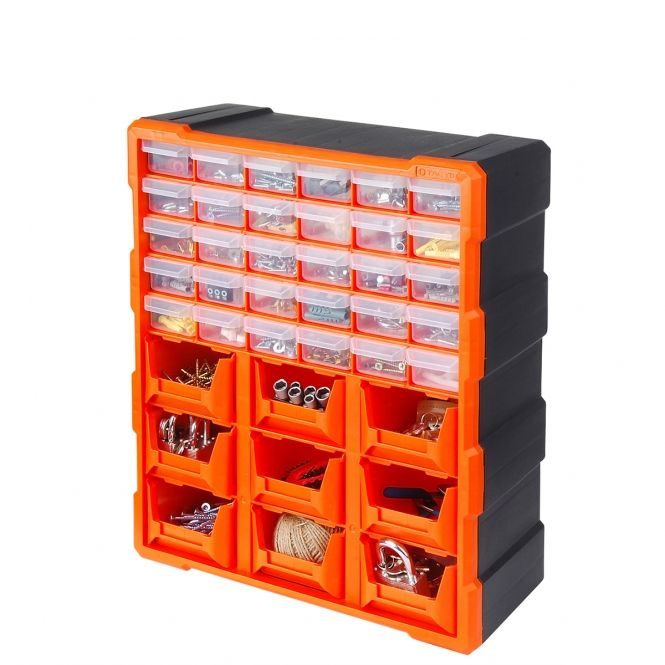 30 Drawer Hardware Storage Cabinet With 9 Bins Small Parts