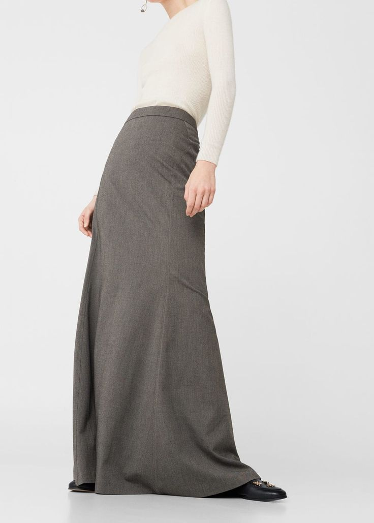 Długa rozkloszowana spódnica | MANGO