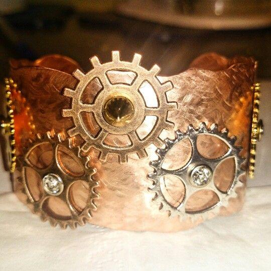 #Kupferarmband #steampunk #handmade #selfmade,  jedes Stück ein Unikat
