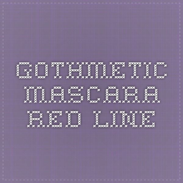 GothMetic - Mascara red line