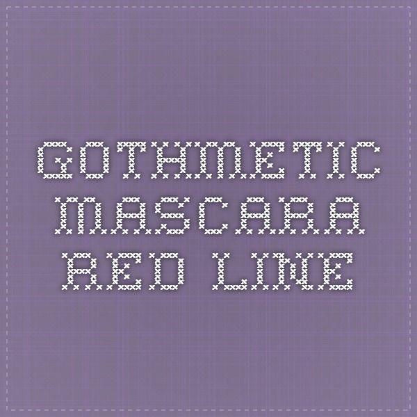 GothMetic - Mascara red line