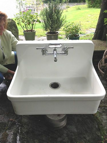 White Kohler farmhouse farm house apron style sink free fixture included