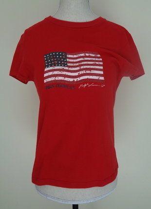 À vendre sur #vintedfrance ! http://www.vinted.fr/mode-femmes/hauts-and-t-shirts-t-shirts/30433603-t-shirt-ralph-lauren-drapeau-americain-effet-vieilli-pour-tailles-32-34-36-et-petit-38