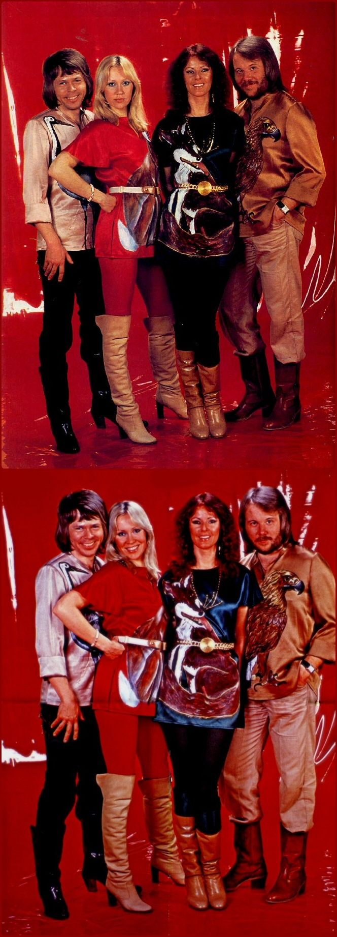 """BRAVO session in Stockholm, April 3, 1978.The 1978 animal outfits were featured during the promotion of ABBA The Album at the beginning of 1978. ABBA performed """"Take A Chance On Me"""" in February 78 on German TV in the """"animal"""" outfits."""
