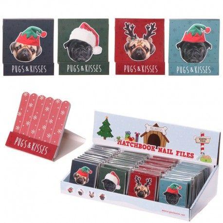 Boîte de limes à ongles - Carlins de Noël