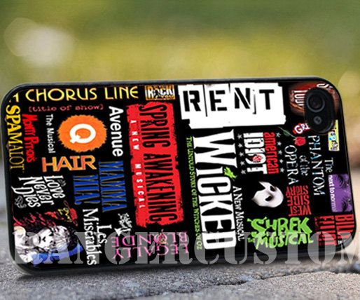 broadway Musical Collage   iPhone by rangercustommumet on Etsy, $15.00