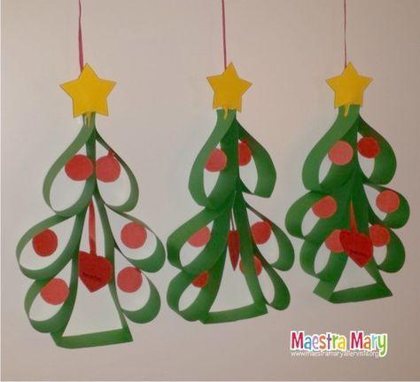 Decorazioni Di Natale Con Alberelli Artigianato Natalizio