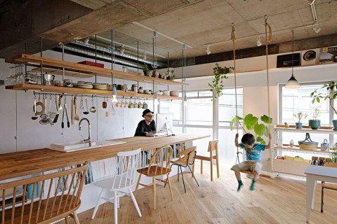 No projeto, os arquitetos japoneses Tomoko Sasaki e Kei Sato aproveitaram ao máximo os 67 m² de sua morada