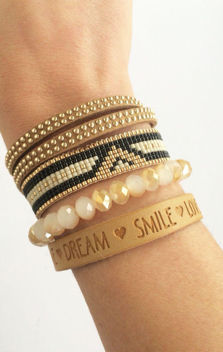 Mix and match bracelets on https://www.etsy.com/nl/listing/255204873/leren-wikkelarmband-met-studs