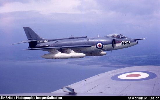 Supermarine Scimitar F.1 XD235 '032' operated by Airwork Fleet Requirements Unit from Hurn Airport c.1967 (Photo: Adrian M.Balch)