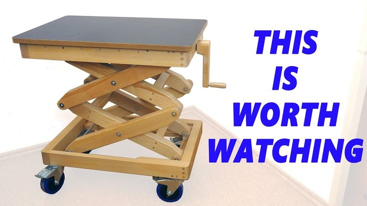 I need this!!!! Homemade Wooden Lifting Table - YouTube