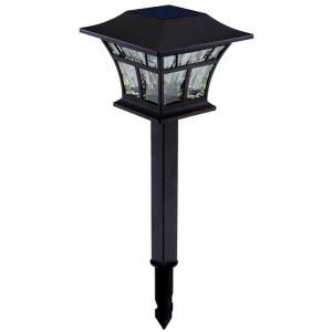 hampton bay outdoor solar powered landscape led bronze mission path light 4 - Path Lights