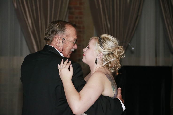 """https://flic.kr/p/GmoVSP   FD(90)   Father daughter dance to """"I loved her first"""" and a video clip of Ariel and King Triton playing in the background"""